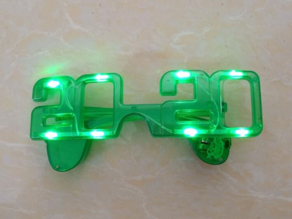 Gift fashion plastic material led light sunglasses