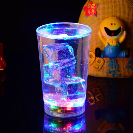 12OZ liquid activated light up led glass cup