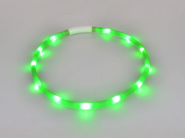 USB rechargeable led necklace collar