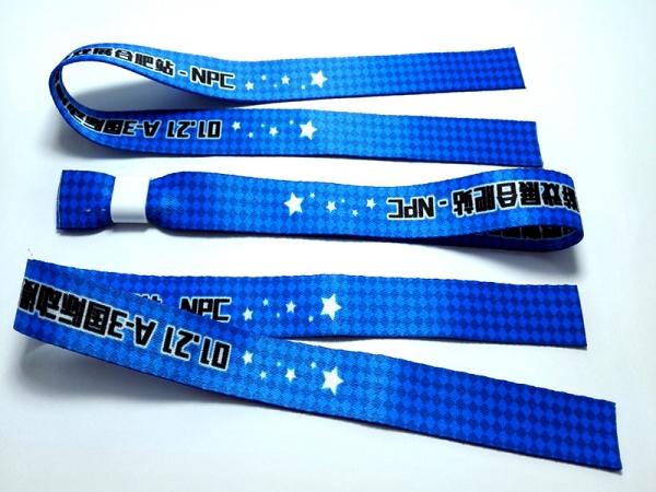 Customized logo Promotion Ribbon Wristband