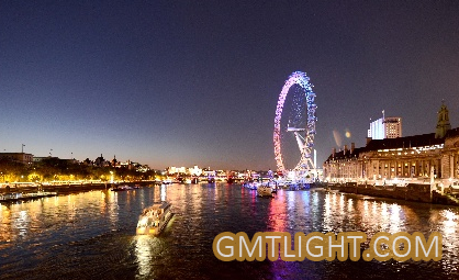 Beautiful Night View of the Thames River