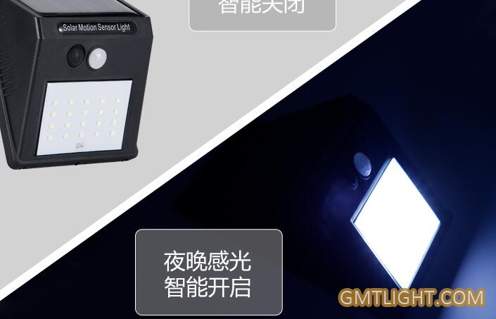 Solar Outdoor Human Induction LED Lamp