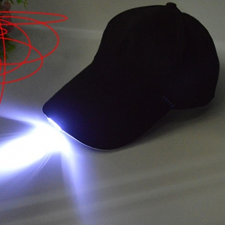 LED light flashing baseball cap