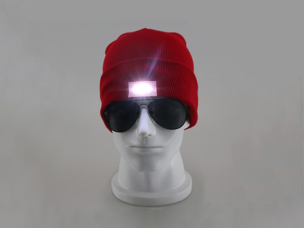Outdoor sport camping LED beanie hat
