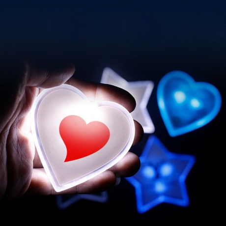 LED heart badge