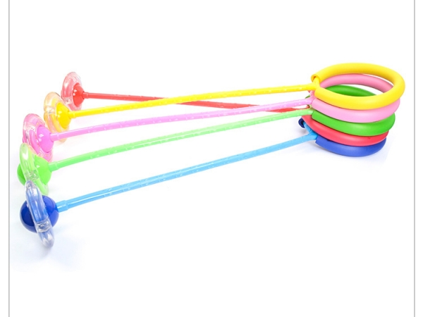 Foldable Ring Colorful LED Ankle Ring Swing Skip Ball