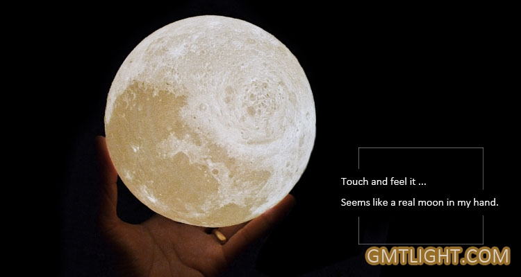 Seems like a real moon in my hand.