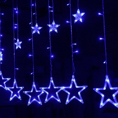 Christmas LED curtain light stars