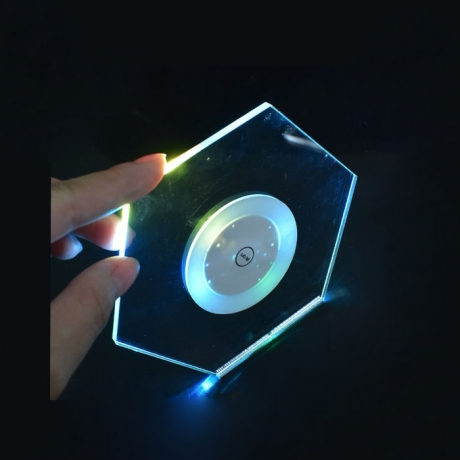 Clear LED hexagon shape acrylic light Coaster