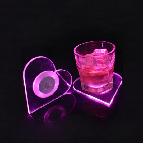 Bright light Star design Drink led coaster