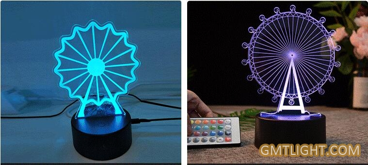3d visual creative table lamp