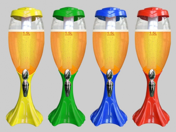 1.5L LED Glow Plastic Soda Beverage Dispenser Tabletop