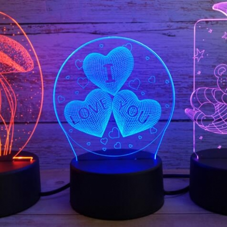 Customized Acrylic Led 3D Luminous Effect Night Light