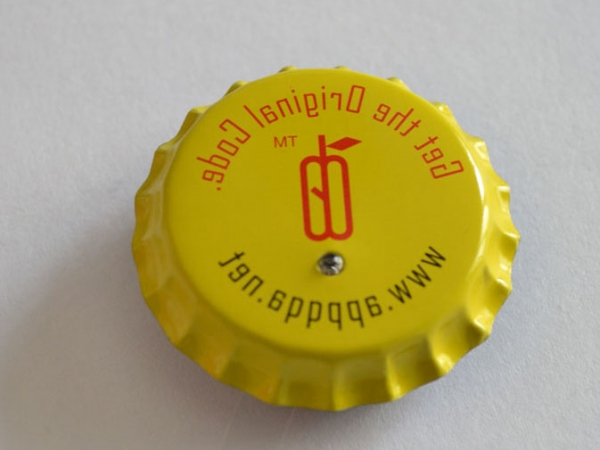 Beer bottle cap LED flashing light badges with custom designed logo