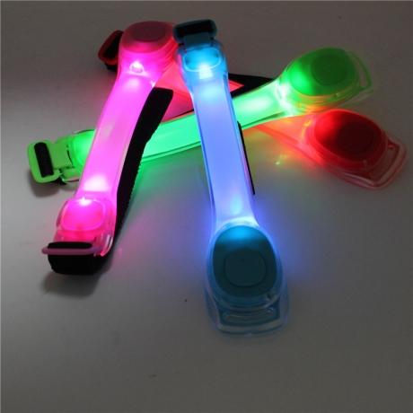 Flashing waterproof led light wristband