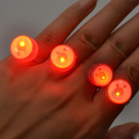 Plastic LED Flashing glow Finger Ring