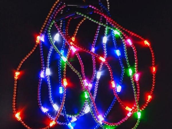 LED glitter necklace