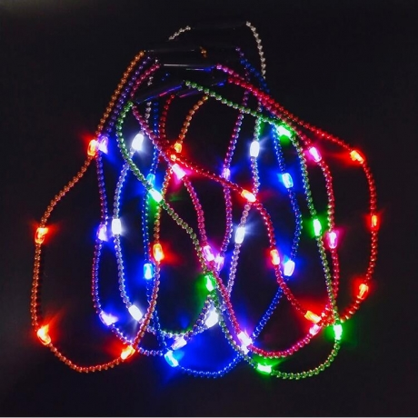LED glitter necklace