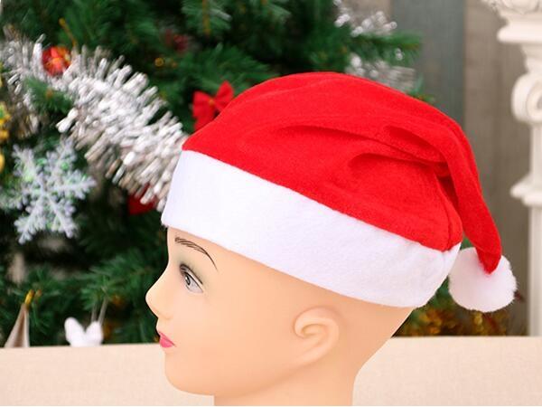 Golden velvet Christmas hat