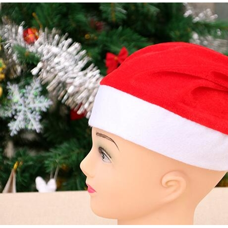 Golden velvet Christmas hat