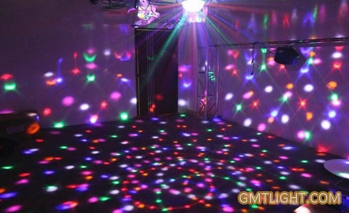 colorful crystal magic light ball for party