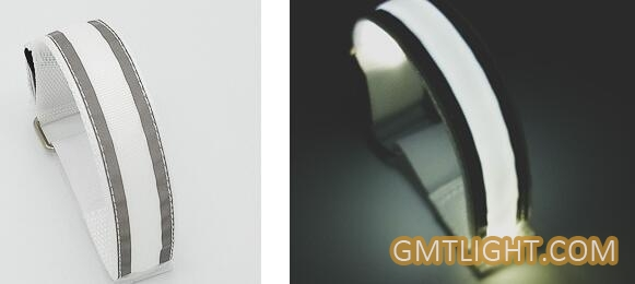 reflective arm band with led light