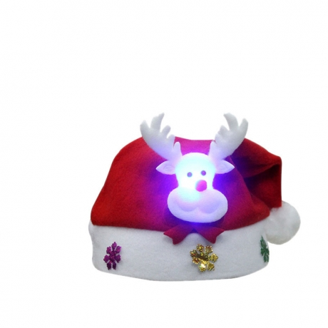 LED cartoon reindeer Christmas hat