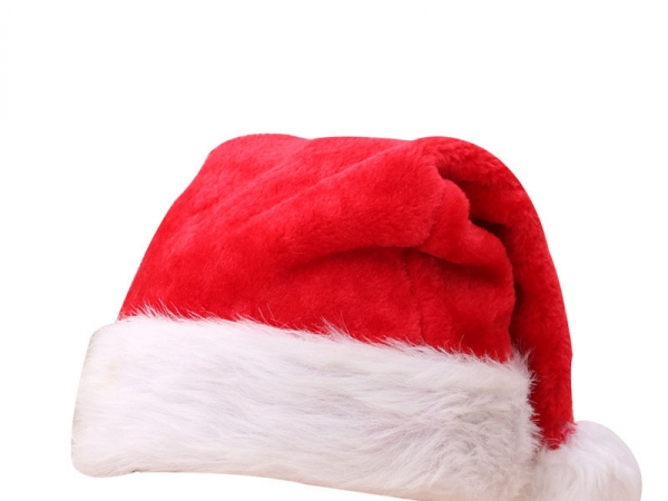 The short plush Christmas hat