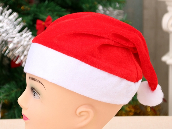 Golden velvet Christmas hat for adults and children