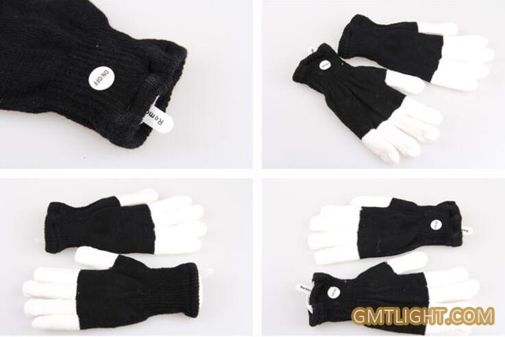led flash gloves