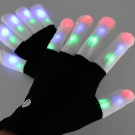LED Flash Gloves