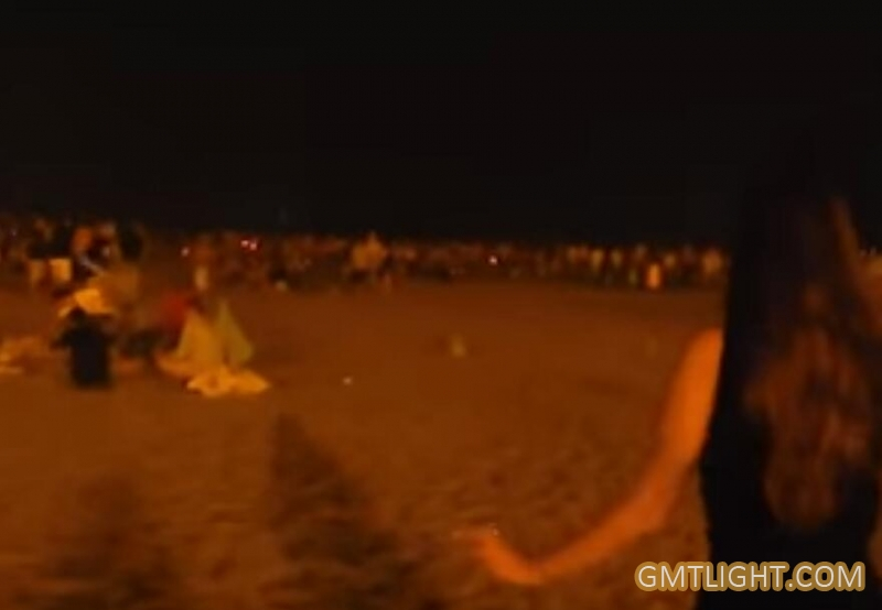 beach bon fire party