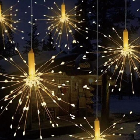 Fireworks spark Effect lamp string With Remote Control