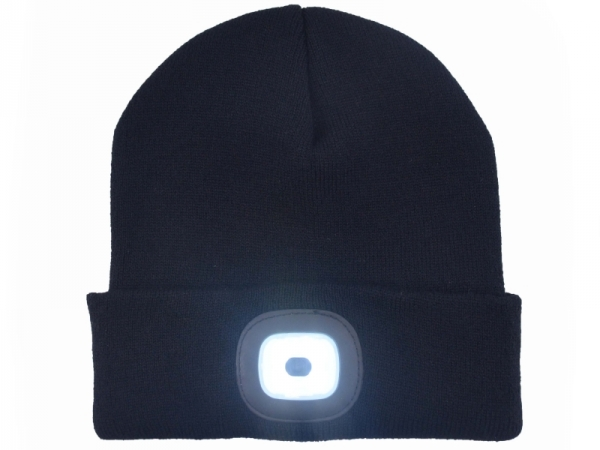Women's Hats USB rechargeable led beanie