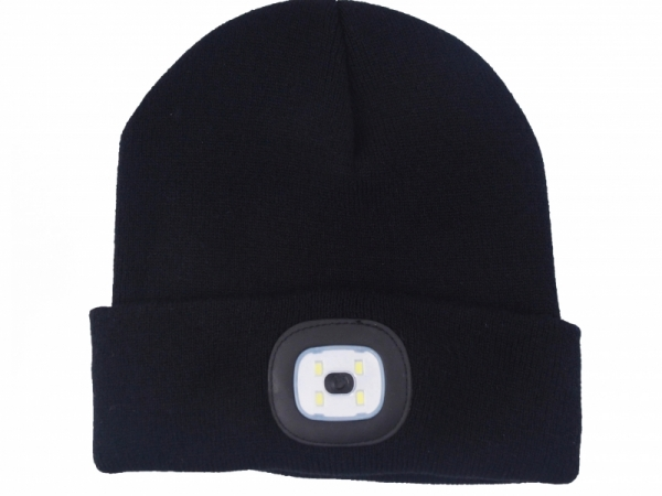Stock wholesale Reflective Halloween led beanie