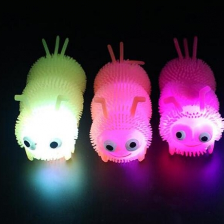 Flash light caterpillar for emotional pressure relief
