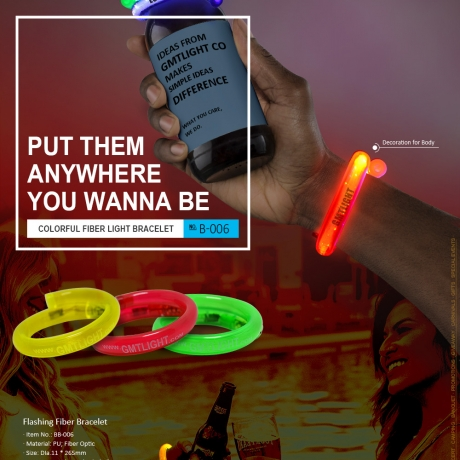 LED Fiber Flashing Bracelet (No.B-006)
