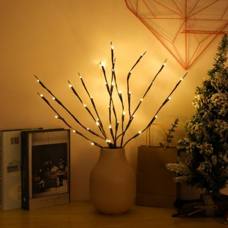 Decorative branch lamp with led light
