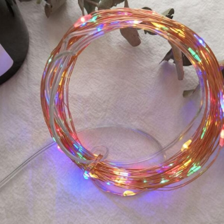 USB plug remote control copper low voltage LED light string