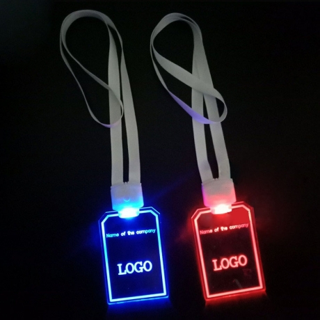 Acrylic Lighted  Lanyard