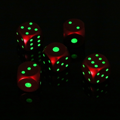 Bright in night metal glow dice
