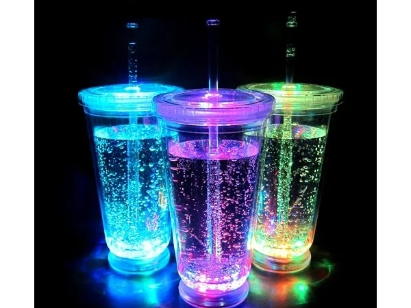 LED 16 OZ double wall cup with lid