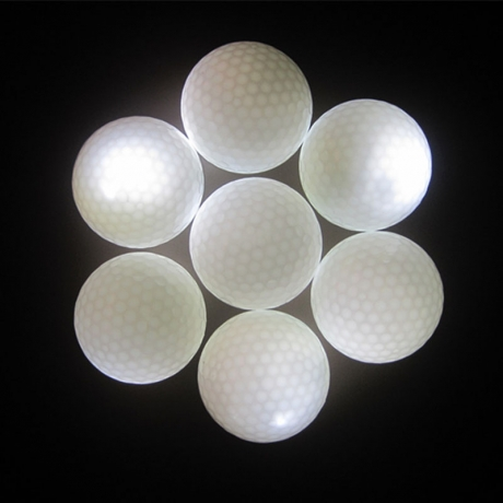 Glowing at night assorted color 3 piece led golf ball