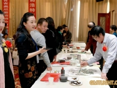 Famous Chinese Calligraphers and painters come to gmtlight to draw for 2020