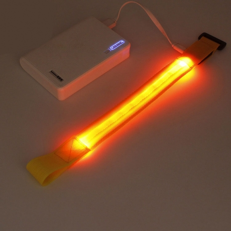 Top sell party gift Reflective LED slap bracelet for running,cycling
