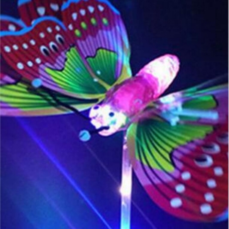 DIY super large electric LED luminous flash butterfly