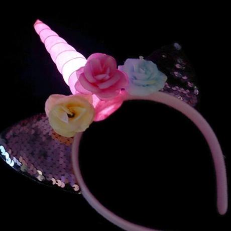 LED light up Unicorn head hoop