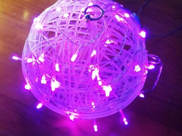 led rattan ball lamp