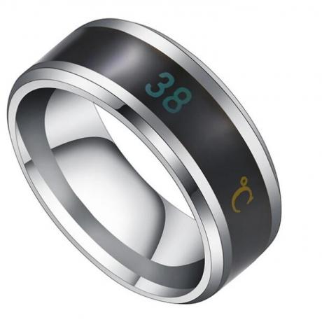 Intelligent temperature display ring