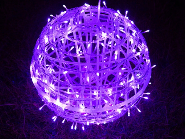 Light Fairy street outdoor brightened decorative 3D hang led ball light